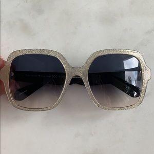 Kate spade glitter gold sunglasses
